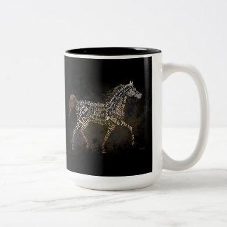 History of the Arabian Horse Gifts & i-Phone Cases Two-Tone Coffee Mug