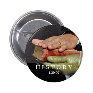 HISTORY: President Obama Hand on Lincoln Bible 2 Inch Round Button