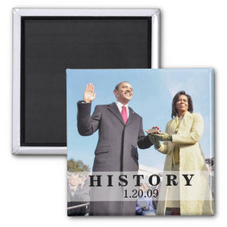 HISTORY: President Obama Inauguration Square Magnet