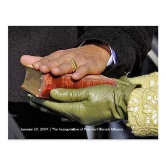 HISTORY President Obama s Hand on Lincoln Bible Postcard