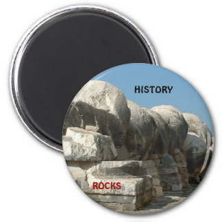 History rocks 2 inch round magnet