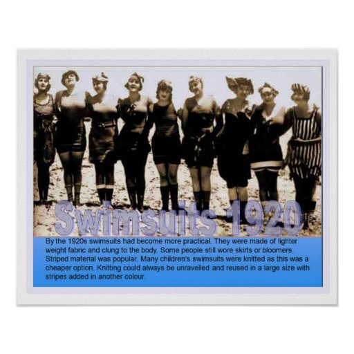 History, Seaside, Swimsuits in 1920 Poster