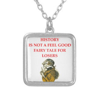 HISTORY SILVER PLATED NECKLACE