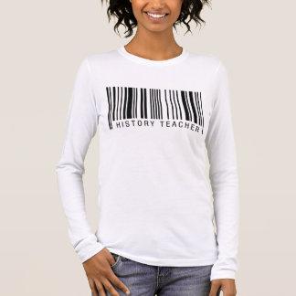 History Teacher Barcode Long Sleeve T-Shirt