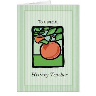 History Teacher Thank You, Apple Card