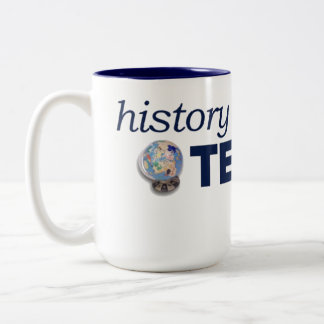 History Tech jumbo, two-toned mug