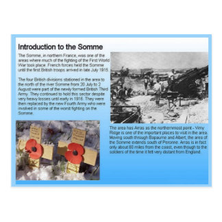 History, World War I, The Somme Postcard