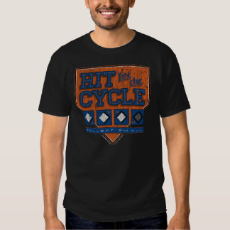 Hit for the Cycle : Vintage Blue + Orange Tshirt