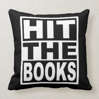 Hit the Books Throw Pillow