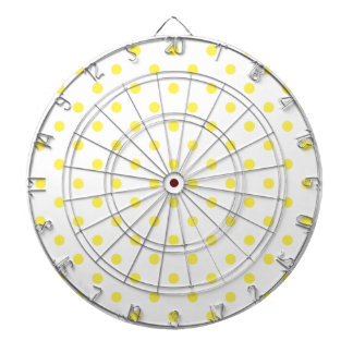 HIT THE DOT Yellow Polka Dot Dart Board
