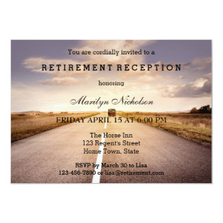 Hit the Road Country Retirement Party Invitation