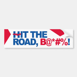 Hit the road Hillary - Crooked H -- -  Bumper Sticker