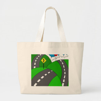 Hit the road large tote bag