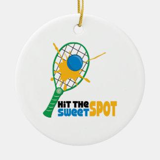 Hit The Sweet Spot Round Ceramic Ornament