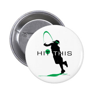 Hit This Green Pitcher Softball Pinback Buttons