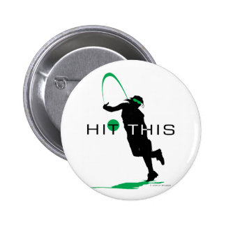 Hit This Green Pitcher Softball Pinback Button
