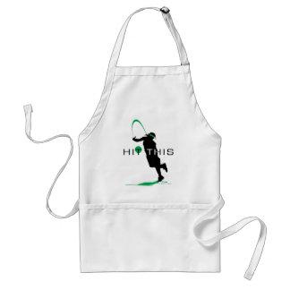 Hit This Green Pitcher Softball Standard Apron