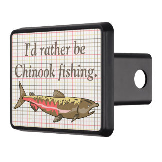 Hitch Cover - Chinook Salmon on Plaid