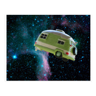 Hitch your trailer to a star postcard