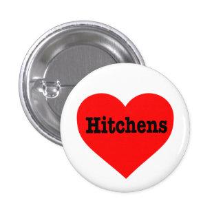 """""""HITCHENS HEART"""" 1 INCH ROUND BUTTON"""