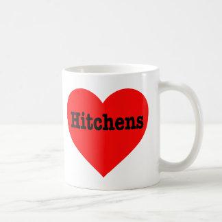 """HITCHENS HEART"" CLASSIC WHITE COFFEE MUG"