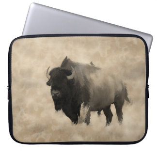 Hitching a Ride  -  Bison-lover's Design Laptop Sleeve