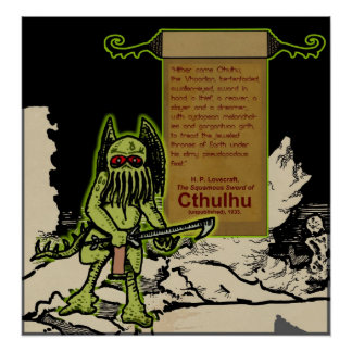 Hither Came Cthulhu... Poster