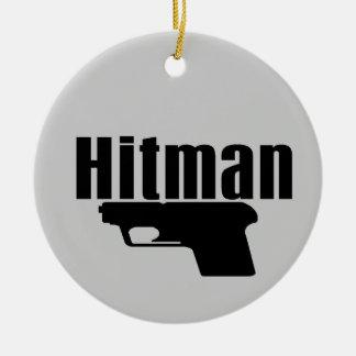 hitman ceramic ornament