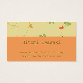 Hitomi hitomi iwasaki Iwasaki Business Card