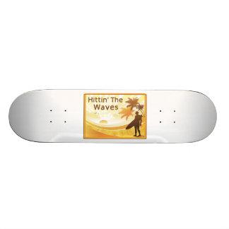 Hittin' The Waves Surfer On The Beach Skateboard Decks