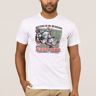 Hitting is My Business  Football T-Shirt