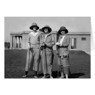 Hitting the Links in Style: 1923 Card