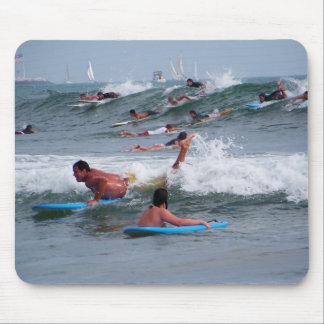 Hitting the waves_Mousepad_by Elenne Boothe Mouse Pad