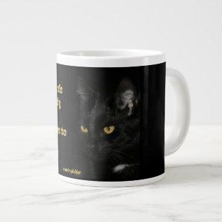HIV/AIDS ACRONYM FLIP - CAT LARGE COFFEE MUG