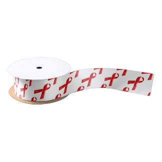 Hiv Aids red ribbon awareness Satin Ribbon