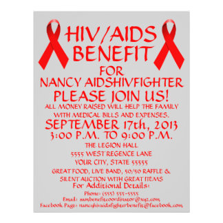 HIV AIDS Red Ribbon Benefit Flyer