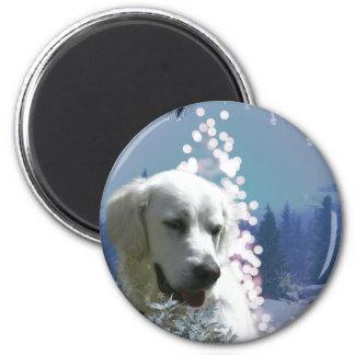 Hiver de labrador retriever magnets pour réfrigérateur