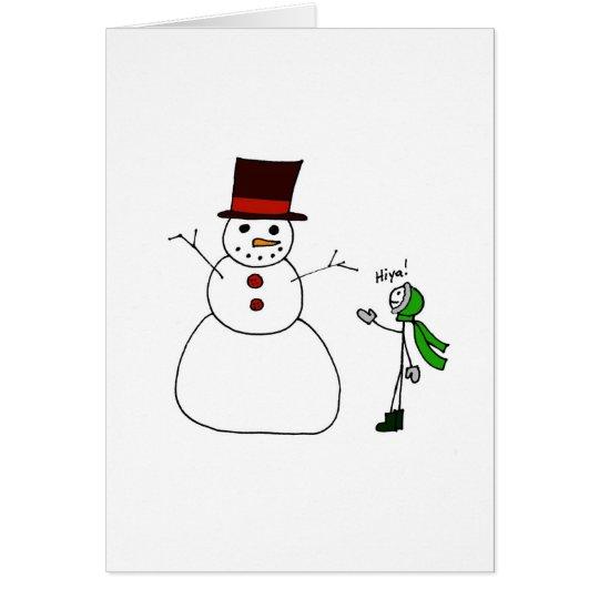 Hiya, Snowman Card
