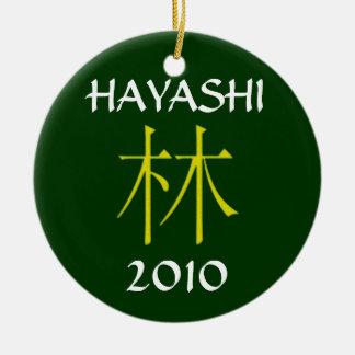 Hiyashi Monogram Ceramic Ornament