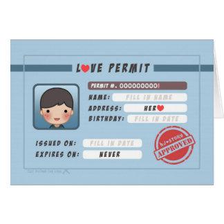 HJ-Histoire : Laiss d'amour (garçon) Carte De Vœux