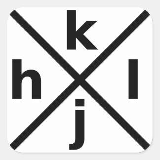 hjkl for Hardcore Vi/Vim Hackers - Square Sticker