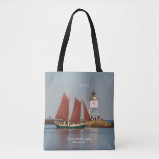 Hjordis & Grand Marais Light all over tote bag