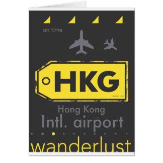 HKG Hong Kong airport code Card