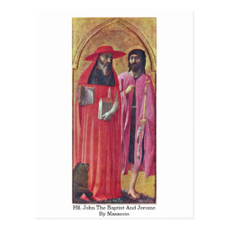 Hll. John The Baptist And Jerome By Masaccio Postcard