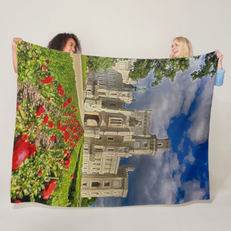 Hluboka Castle, Czech Republic Acrylic Art Fleece Blanket