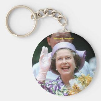 HM Queen Elizabeth II-Hong Kong-1987 Basic Round Button Keychain