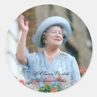 HM Queen Elizabeth, The Queen Mother 1985 Round Sticker