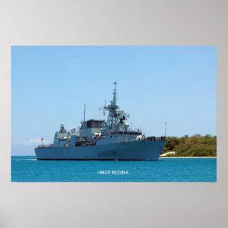 HMCS Regina Poster