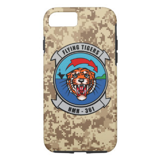 """HMH-361 """"Flying Tigers"""" Marine Camo iPhone 7 Case"""