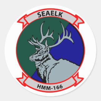 HMM-166 insignia Classic Round Sticker